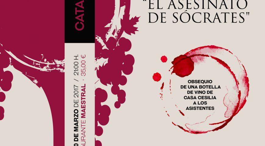 Marcos Chicot y 'El asesinato de Sócrates' en las Catas Literarias de marzo
