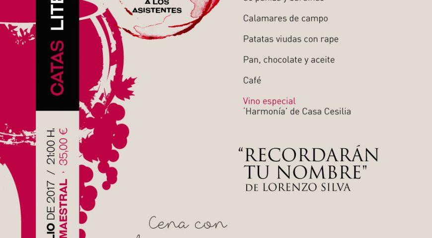 Lorenzo Silva cierra el curso de las Catas Literarias de Maestral