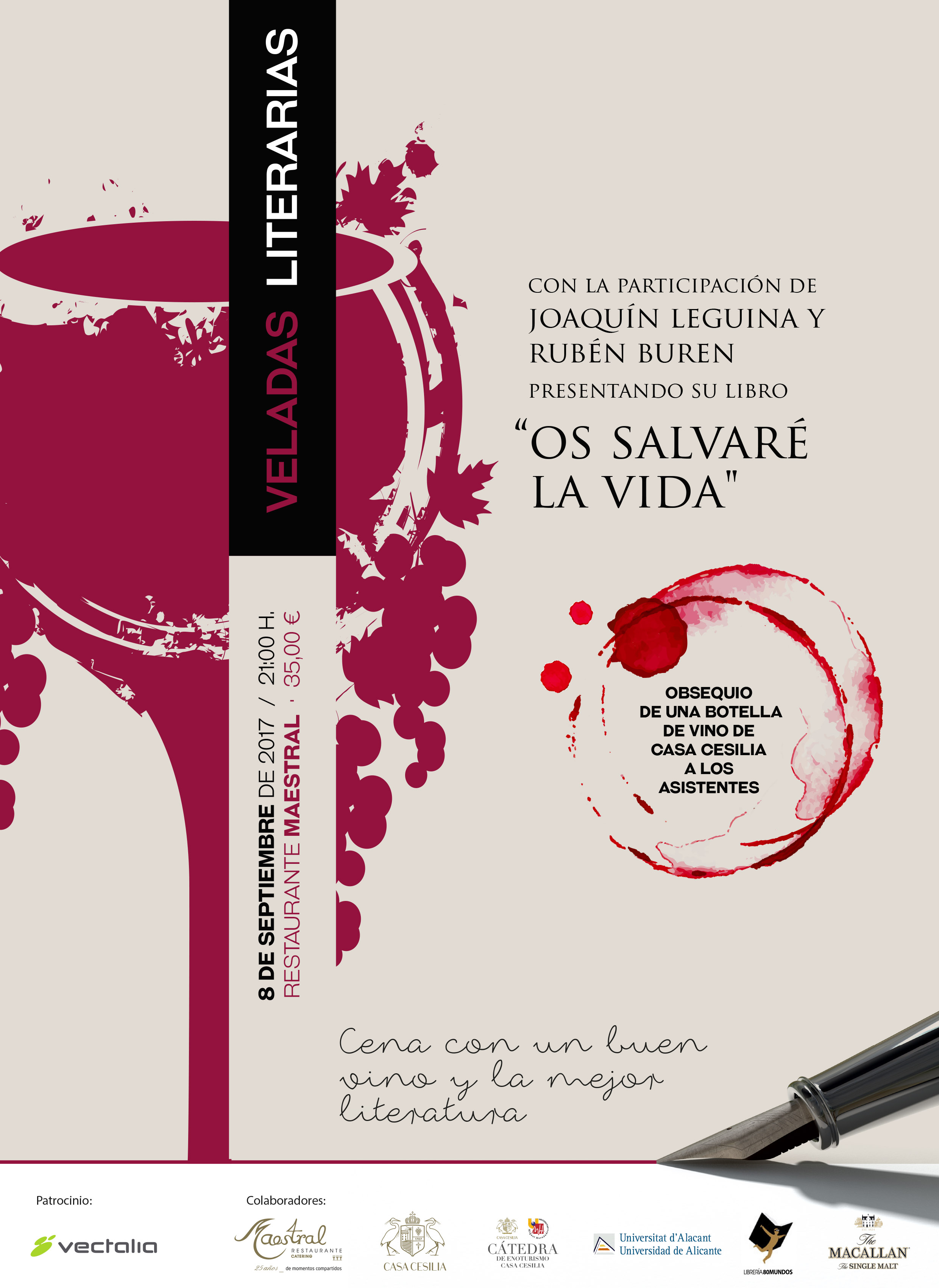 Veladas Literarias con Joaquin Leguina y Rubén Buren
