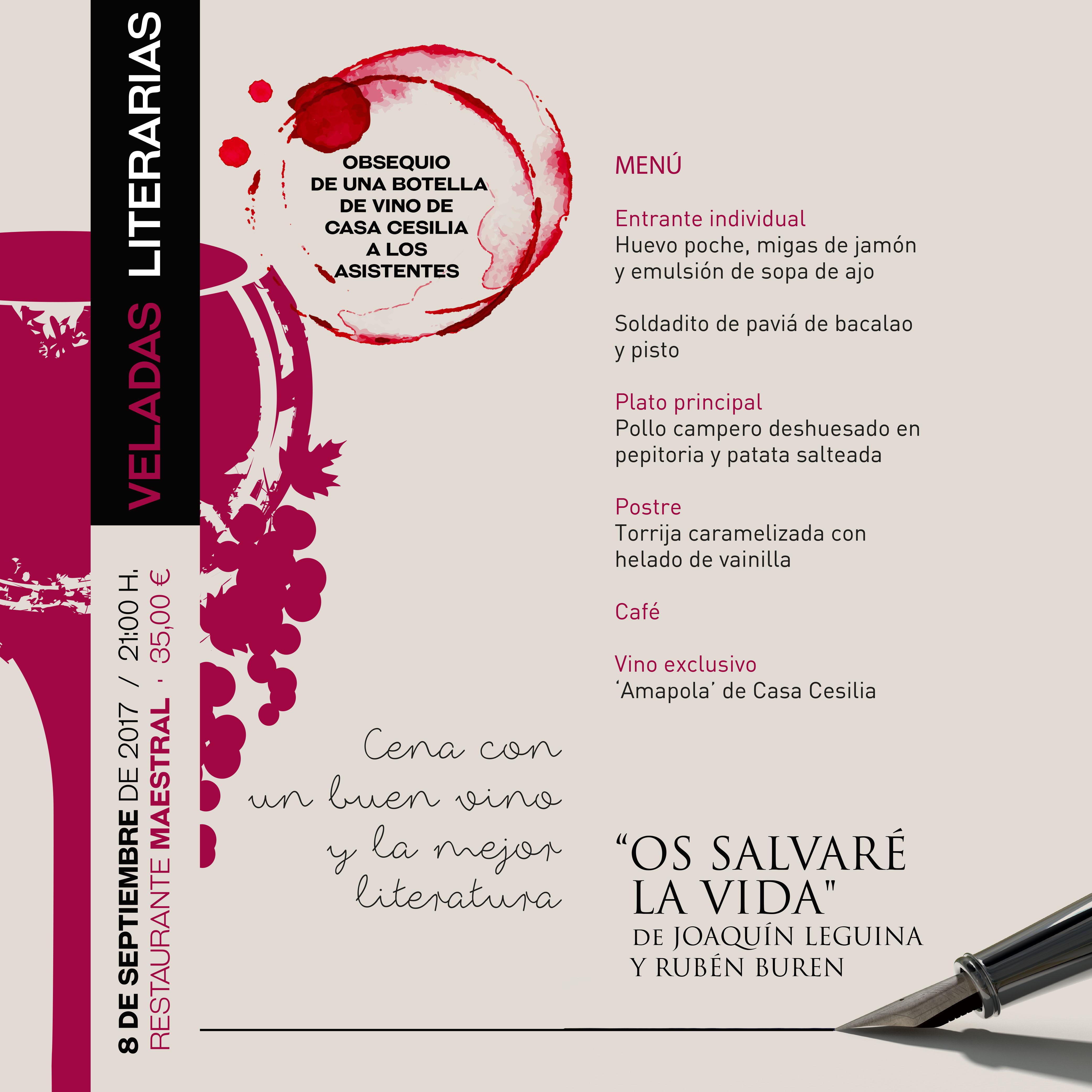 Veladas Literarias Maestral con joaquin Leguina y Ruben Buren
