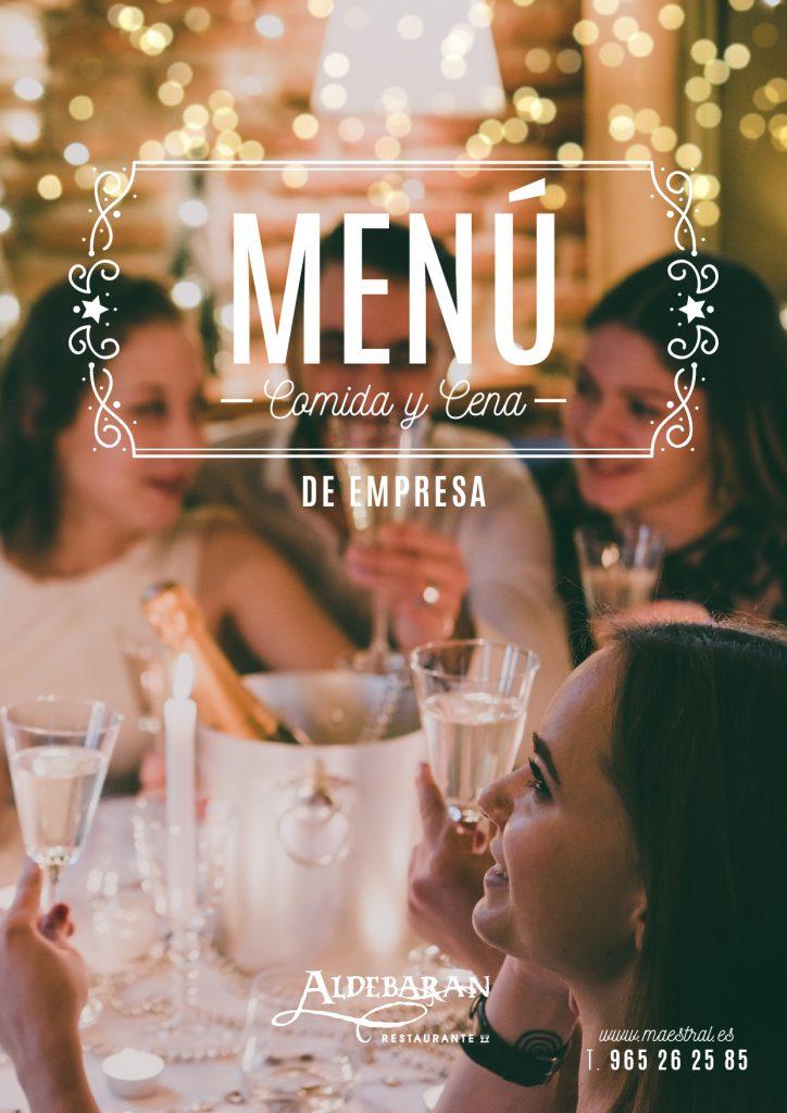 Menú comidas y cenas de empresa en Alicante