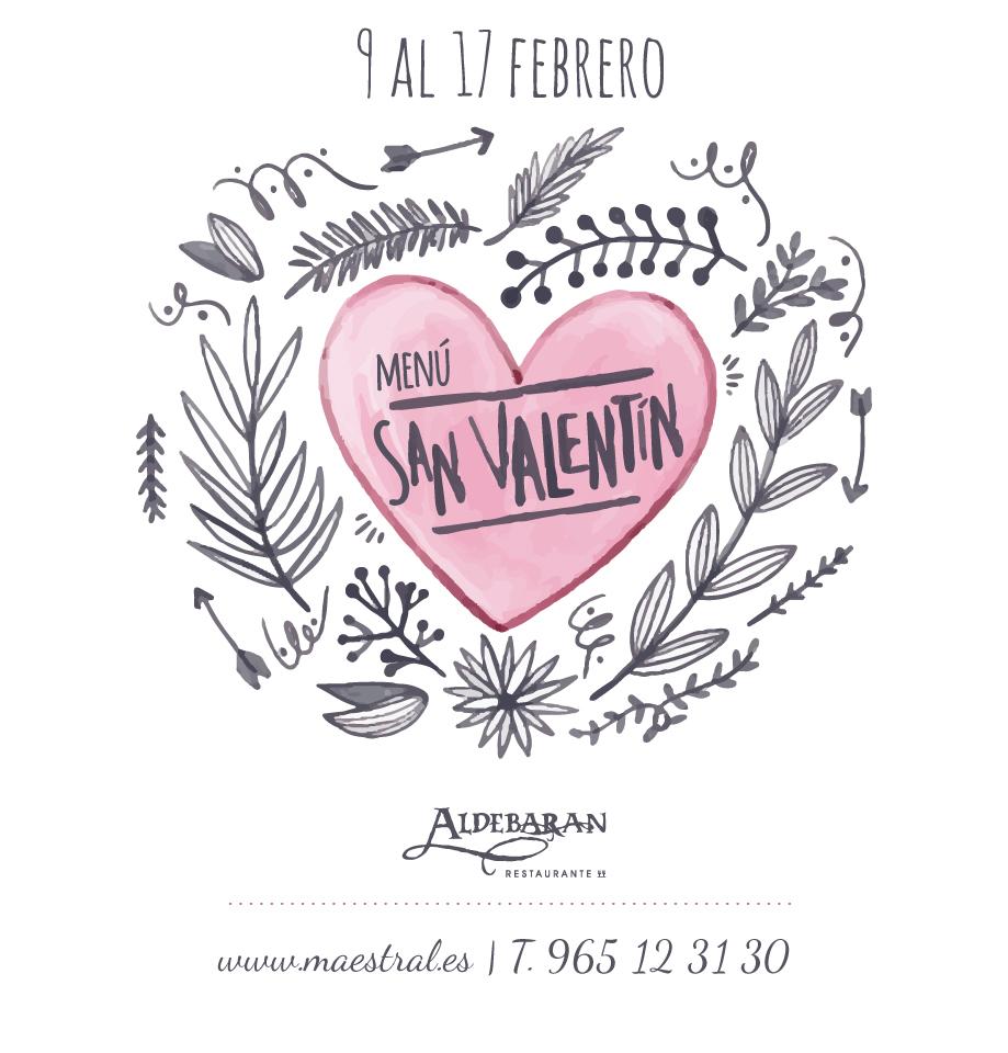 San Valentín menú especial Aldebarán Alicante