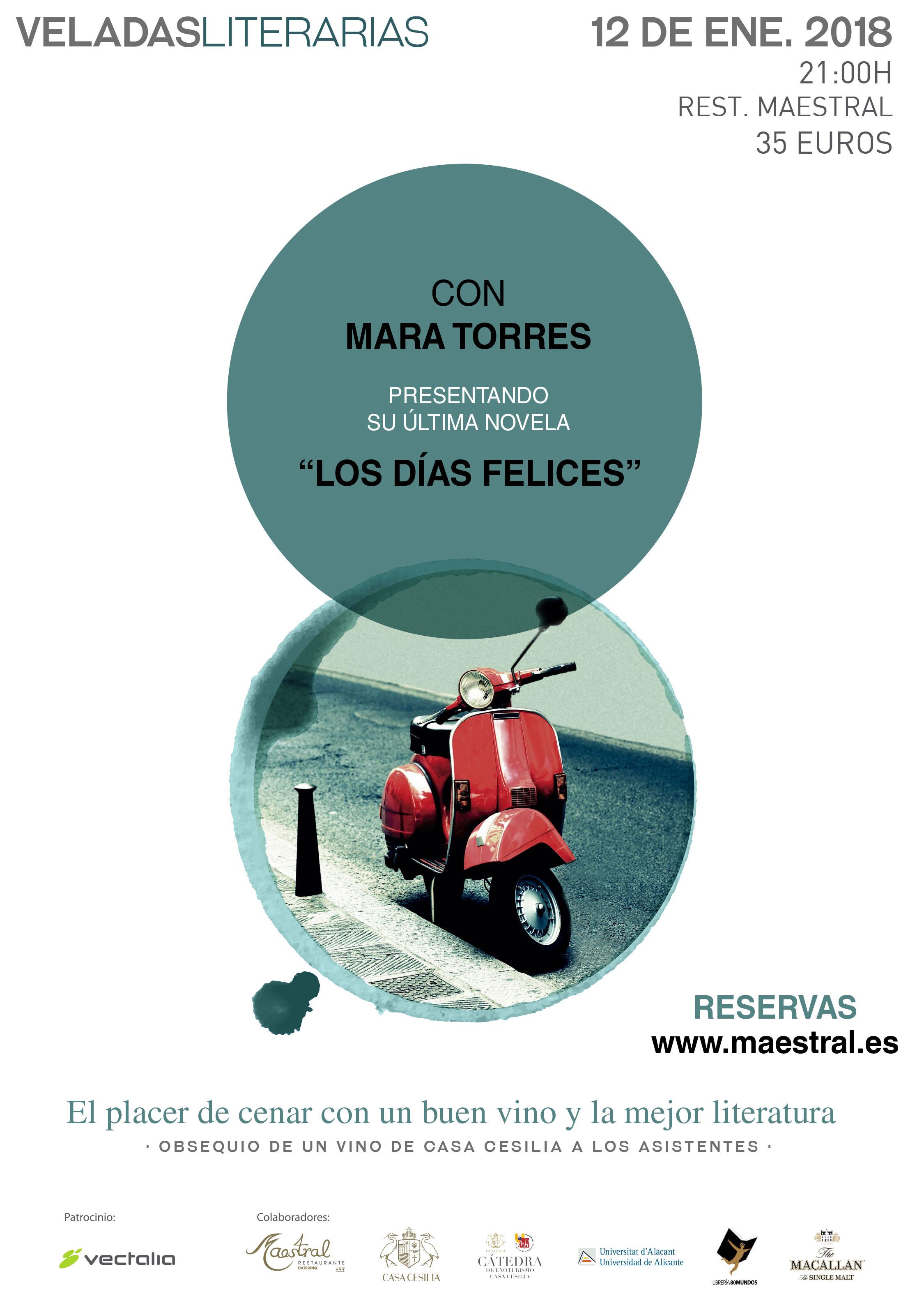 Mara Torres en las Veladas Literarias Maestral
