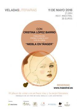 Cristina López Barrio, finalista del Premio Planeta, protagonista en las Veladas Literarias Maestral