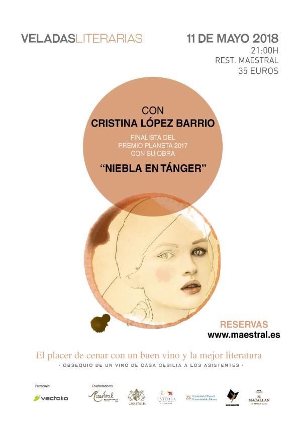 Veladas Literarias Maestral con Cristina López Barrio