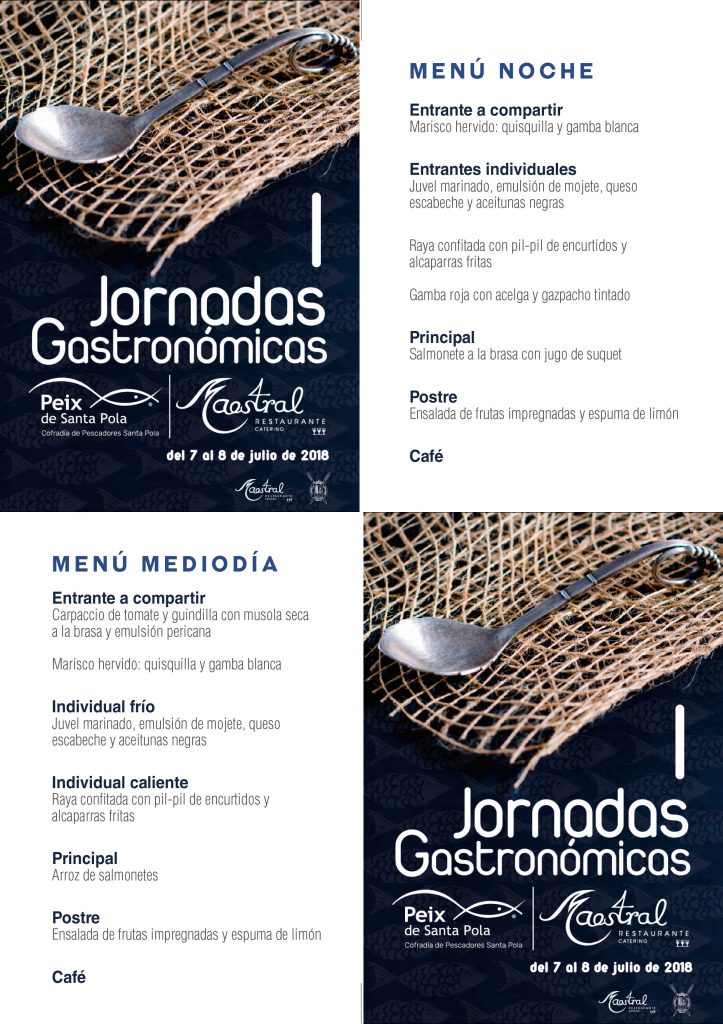 iptico Jornadas Gastronomicas Peix Noche
