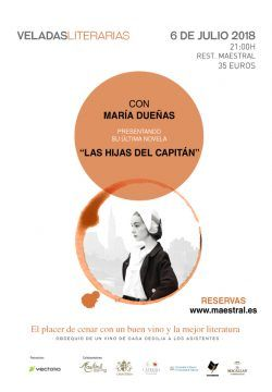María Dueñas will close the Literary Evenings Series at Maestral with a sold-out presentation