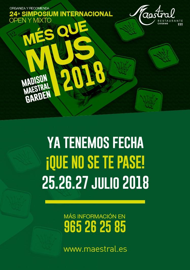 Més que mus 2018 en Maestral Restaurante Alicante
