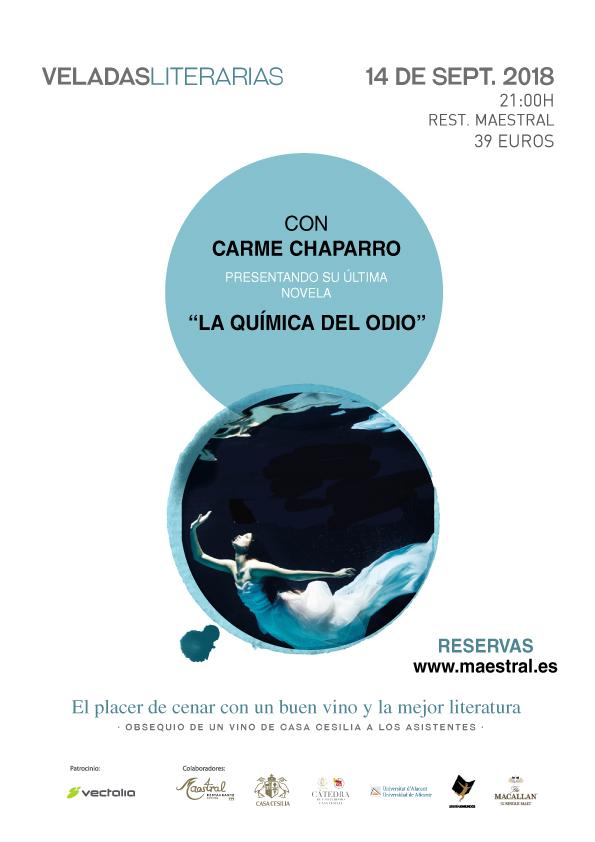Veladas Literarias con Carme Chaparro Septiembre 2018
