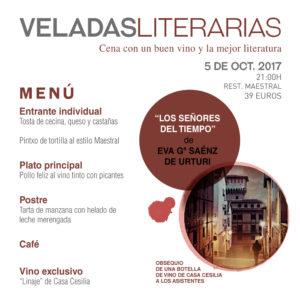 Veladas Literarias Maestral menu