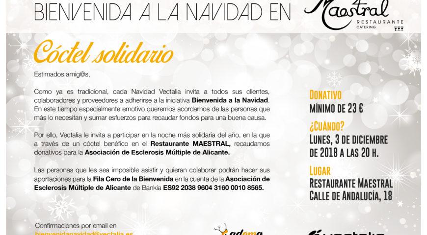 La Bienvenida a la Navidad en Maestral 2018 donará su recaudación a la Asociación de Esclerosis Múltiple de Alicante