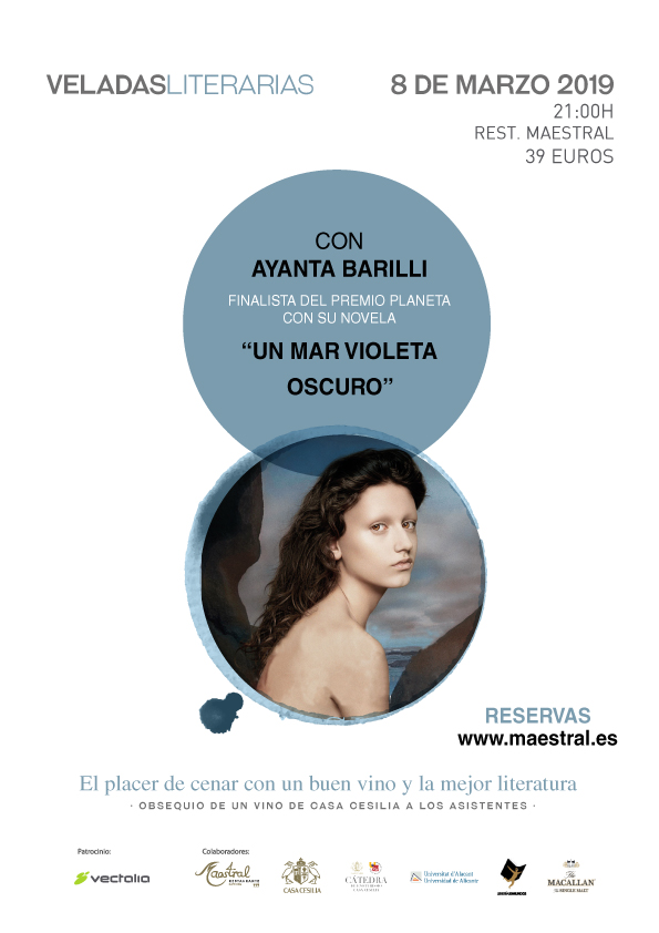 Veladas Literarias Maestral con Ayanta Barilli