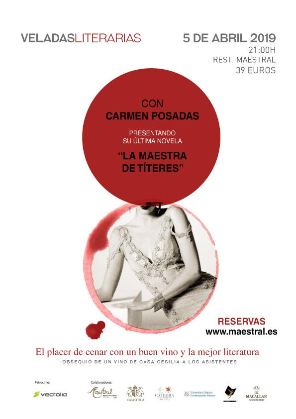 Veladas Literarias Maestral con Carmen Posadas