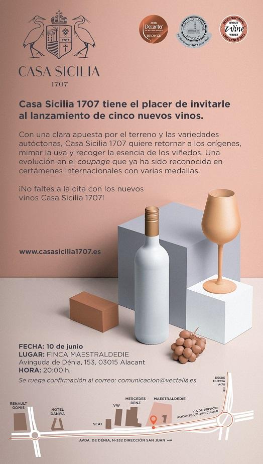 Invitación vinos Casa Cesilia