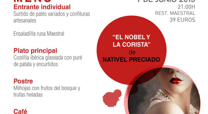 Nativel Preciado recrea la belle époque en las Veladas Literarias de Maestral