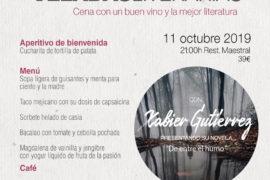 El chef Xabier Gutiérrez desentraña su noir gastronómico en las Veladas Literarias